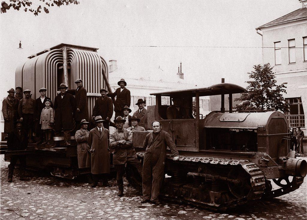 Muuntajan kuljetusta vuonna 1932