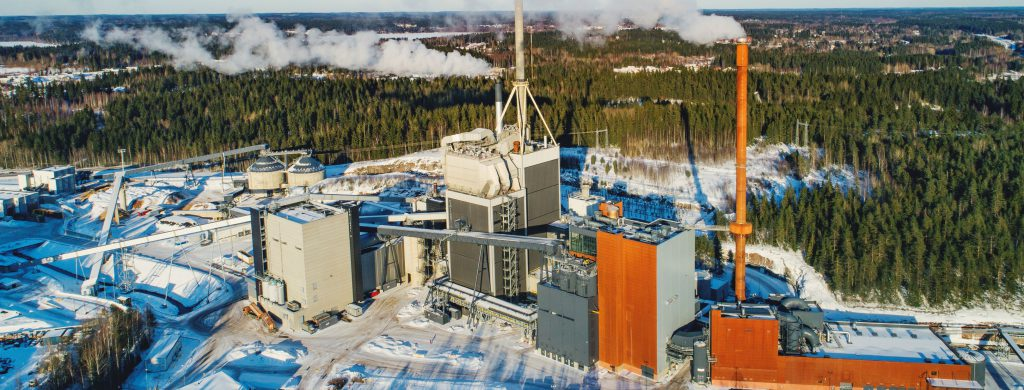 Kymijärven voimalaitokset ilmakuvassa